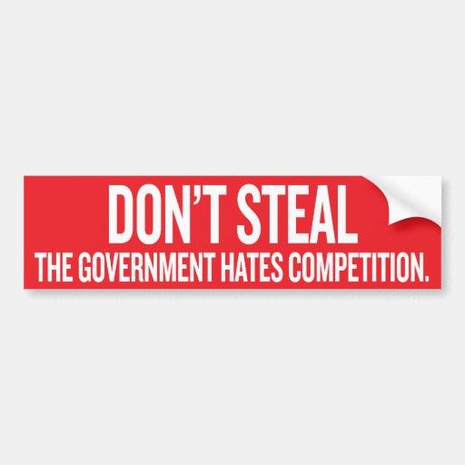 Stjäla inte den regerings- hatkonkurrensen Sticke Bildekaler