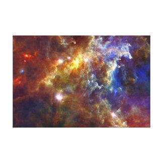 Stjärn- barnkammare i Rosettenebulaena Canvastryck