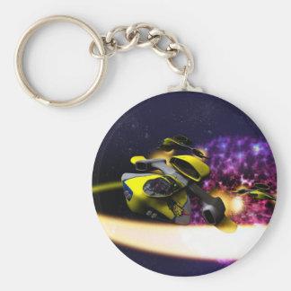 Stjärn- driva Keychain Rund Nyckelring