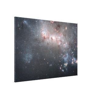 Stjärn- fyrverkerier är brinns i galaxen NGC 4449 Canvastryck