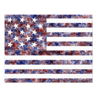 Stjärna 15 oss flagga anpassade tillkännagivande