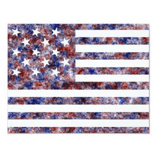 Stjärna 15 oss flagga 10,8 x 14 cm inbjudningskort