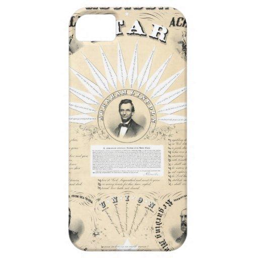 Stjärna 1864 för presidentLincoln Acrostic iPhone 5 Case-Mate Fodral