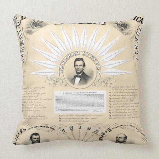 Stjärna 1864 för presidentLincoln Acrostic Kuddar