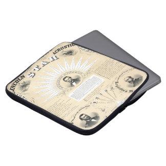 Stjärna 1864 för presidentLincoln Acrostic Laptopskydd