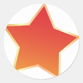 Stjärna Runda Klistermärken