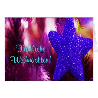 Stjärna för Fröhliche Weihnachten julblått