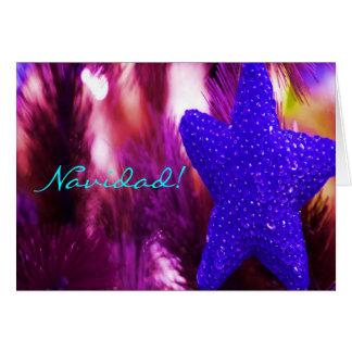 Stjärna för julNavidad blått Hälsningskort