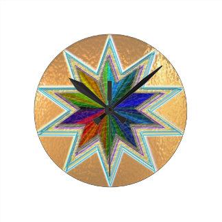 Stjärna för regnbåge Art101 Rund Klocka