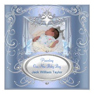 Stjärna för silver för blått för pojke för babymed