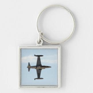 Stjärna för skytte P-80 Fyrkantig Silverfärgad Nyckelring