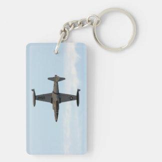 Stjärna för skytte P-80 Rektangulärt Dubbelsidigt Nyckelring I Akryl
