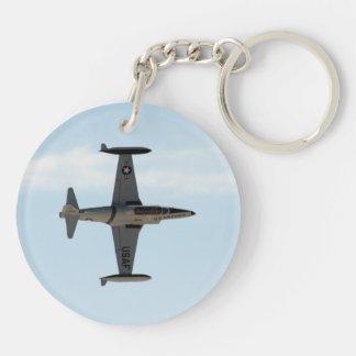 Stjärna för skytte P-80 Dubbelsidigt Rund Akryl Nyckelring