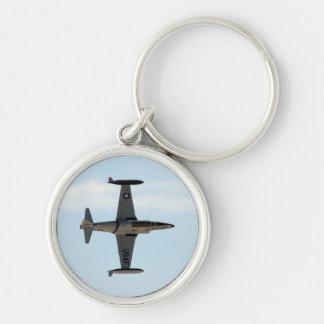 Stjärna för skytte P-80 Rund Silverfärgad Nyckelring