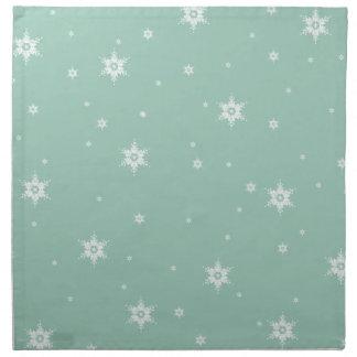 Stjärna för stjärnor för snöflingor för tygservett