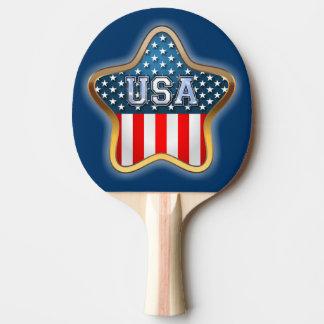 Stjärna-Formad amerikanska flaggan Pingisracket