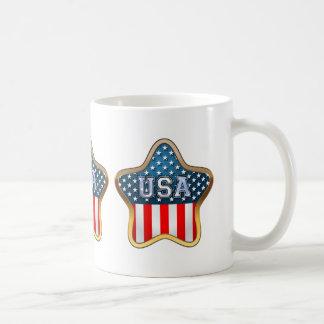 Stjärna formade amerikanska flaggan kaffemugg