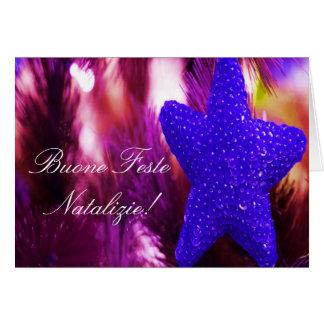Stjärna II för julBuone Feste Natalizie blått