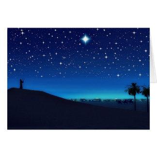 Stjärna över den Bethlehem julkortet Hälsningskort