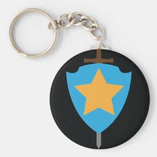 Stjärna Rund Nyckelring