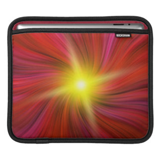 Stjärna som brists i röd virvla runt virvelipad iPad sleeve