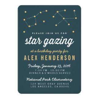 Stjärna som stirrar barns födelsedagpartyinbjudan 12,7 x 17,8 cm inbjudningskort