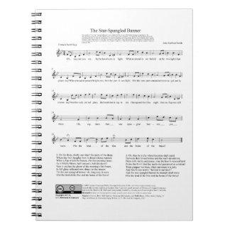 Stjärna-Spangled lakan för banernationalsångenmusi Antecknings Böcker