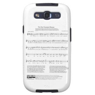 Stjärna-Spangled lakan för banernationalsångenmusi Galaxy S3 Skal