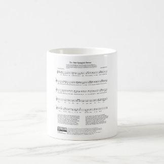 Stjärna-Spangled lakan för banernationalsångenmusi Kaffe Koppar