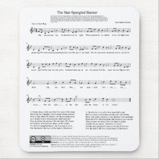 Stjärna-Spangled lakan för banernationalsångenmusi Mus Matta
