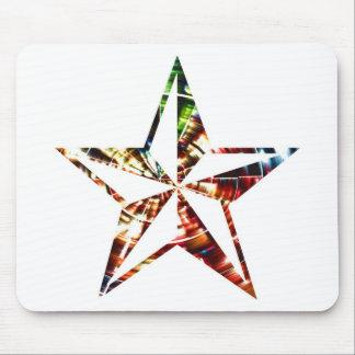Stjärna V6 - Röd gnistra Musmattor
