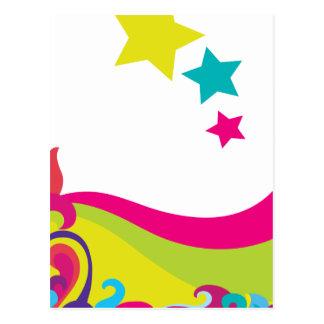 stjärna vykort