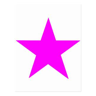 Stjärnamagenta de MUSEUMZazzle gåvorna Vykort