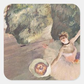 Stjärnan av baletten, Degas Fyrkantigt Klistermärke