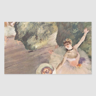Stjärnan av baletten, Degas Rektangulärt Klistermärke