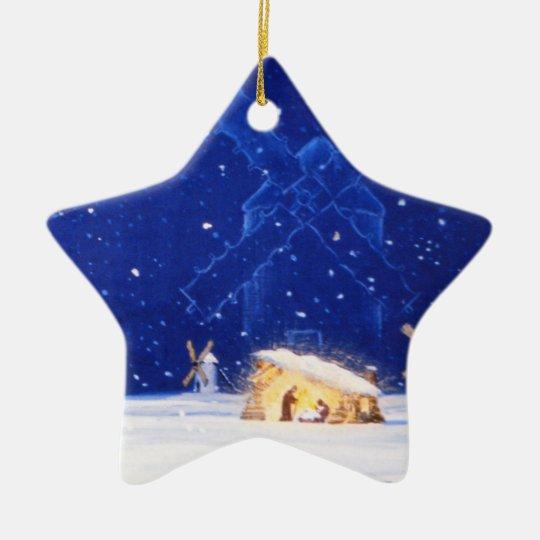 Stjärnan av Bethlehem & UNIVERSITETSLÄRAREN Stjärnformad Julgransprydnad I Keramik