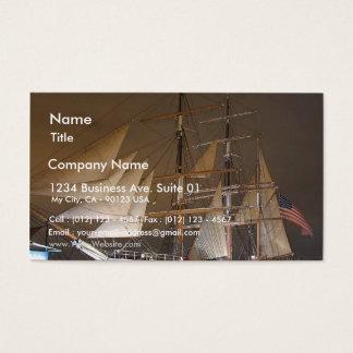 Stjärnan av Indien seglar seglingfraktfartyg Visitkort
