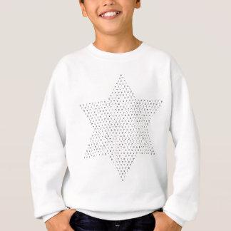 Stjärnan av Israel konstruerade med hebréiska brev Tee Shirts