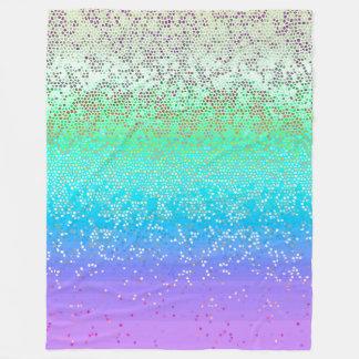 Stjärnan för ullfiltglitter dammar av fleecefilt