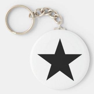 Stjärnasvart de MUSEUMZazzle gåvorna Nyckel Ring