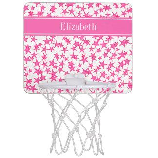 Stjärnavit BG, känd Monogram för shock rosa 2 för Mini-Basketkorg