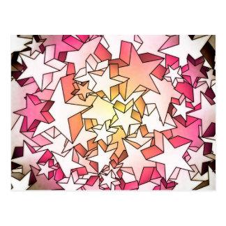 stjärnor 3D Vykort