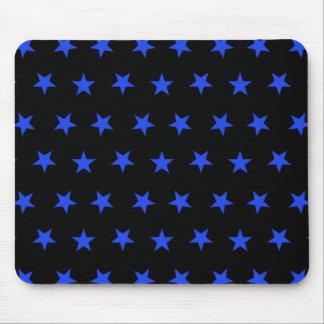 Stjärnor 8 blått musmatta