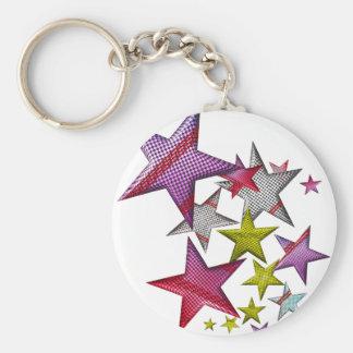Stjärnor för din stjärna! rund nyckelring