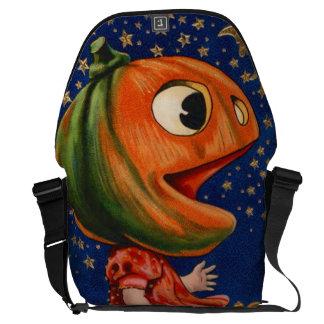 Stjärnor för jack o lanternpumpamåne kurir väskor