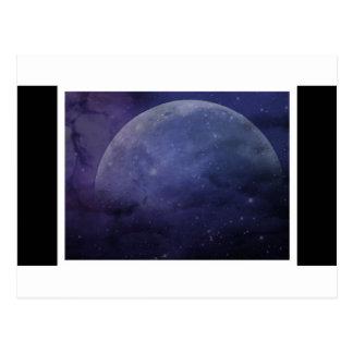 stjärnor för lilablåttmåne vykort