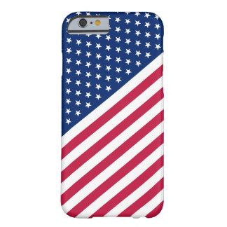 Stjärnor för randar för USA sjunker röda blåttvit Barely There iPhone 6 Fodral