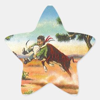 Stjärnor för Rodeo för Wrangler för råd för Stjärnformat Klistermärke