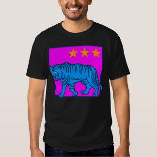 STJÄRNOR för TIGER för BLÅTT för COREY-TIGER80-tal T Shirts