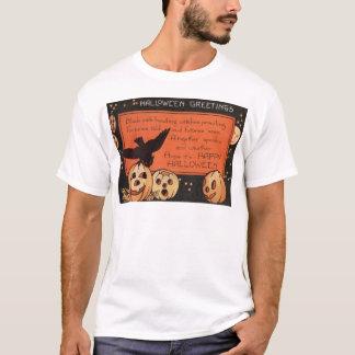 Stjärnor för uggla för pumpa för jackO lykta T-shirt